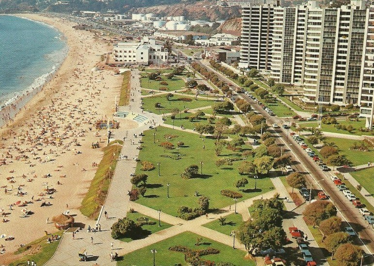 Enterreno - Fotos históricas de chile - fotos antiguas de Chile - Viña del Mar en 1987