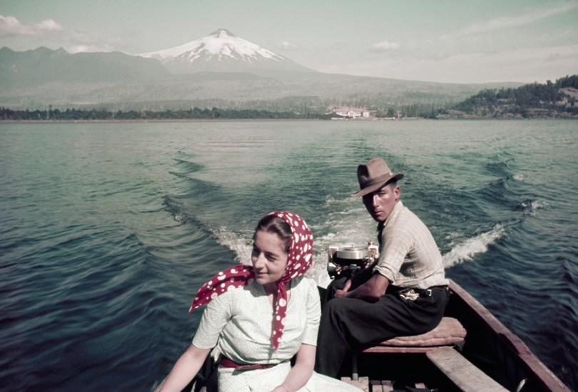 Enterreno - Fotos históricas de chile - fotos antiguas de Chile - Lago Villarrica, Julio de 1941