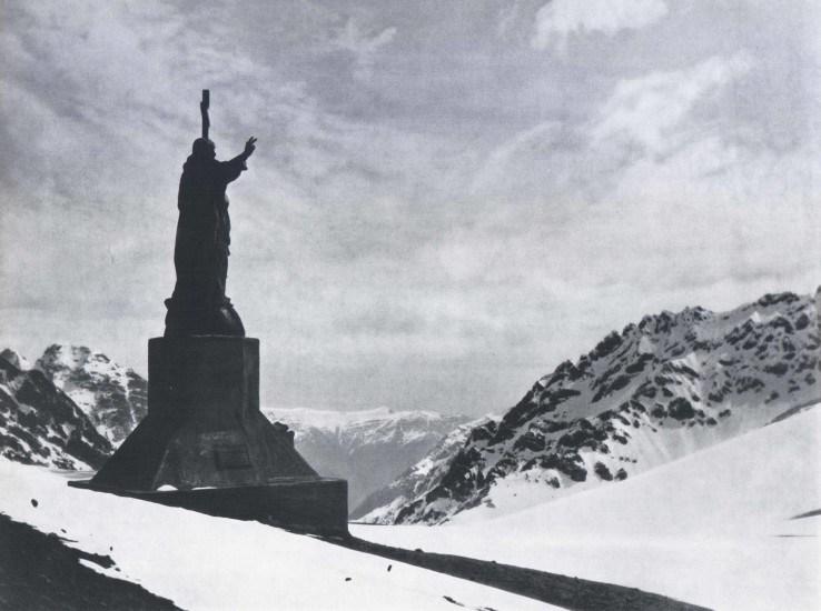 Enterreno - Fotos históricas de chile - fotos antiguas de Chile - Cristo de los Andes 1959
