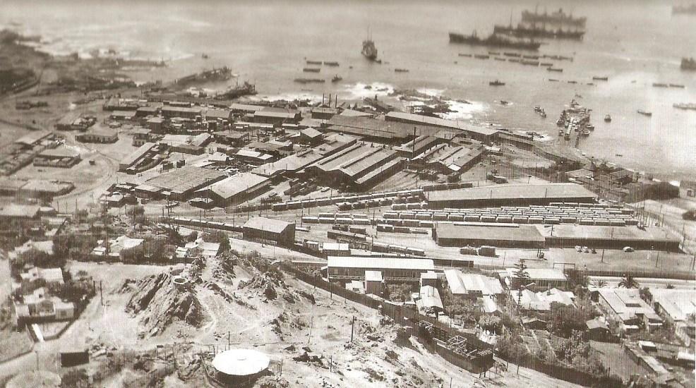 Enterreno - Fotos históricas de chile - fotos antiguas de Chile - Estación de trenes de Tocopilla 1948