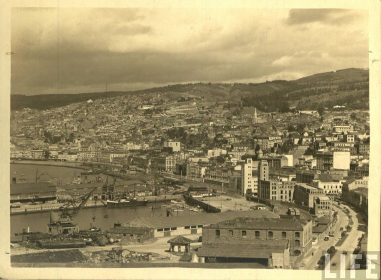Enterreno - Fotos históricas de chile - fotos antiguas de Chile - Valparaíso ca 1936