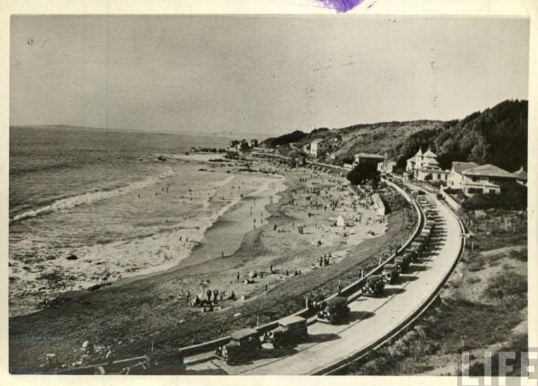 Enterreno - Fotos históricas de chile - fotos antiguas de Chile - Playa Amarilla de Concón, ca. 1930