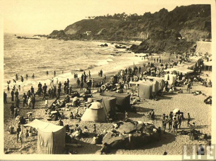 Enterreno - Fotos históricas de chile - fotos antiguas de Chile - Balneario Las Salinas, ca. 1930