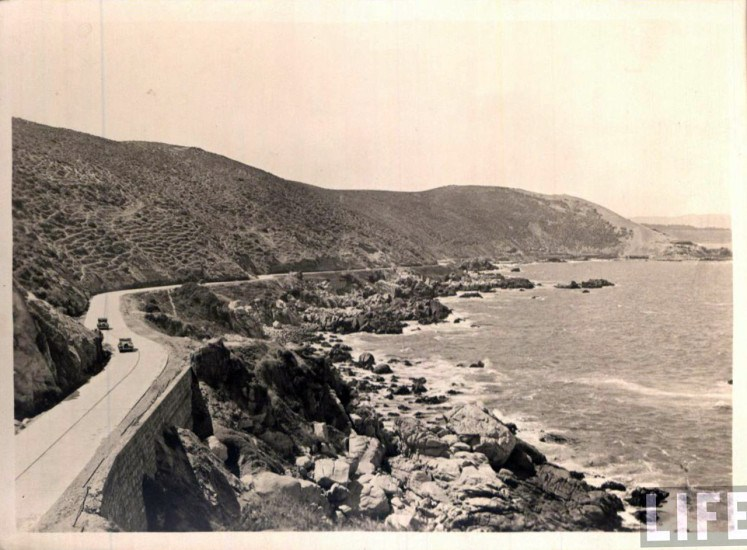 Enterreno - Fotos históricas de chile - fotos antiguas de Chile - Camino Viña – Concón, ca. 1930
