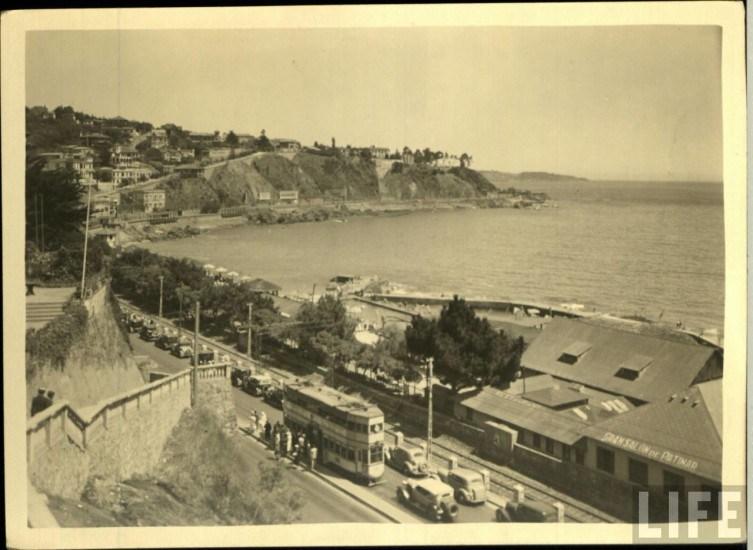 Enterreno - Fotos históricas de chile - fotos antiguas de Chile - AVenida españa de Viña del Mar 30s