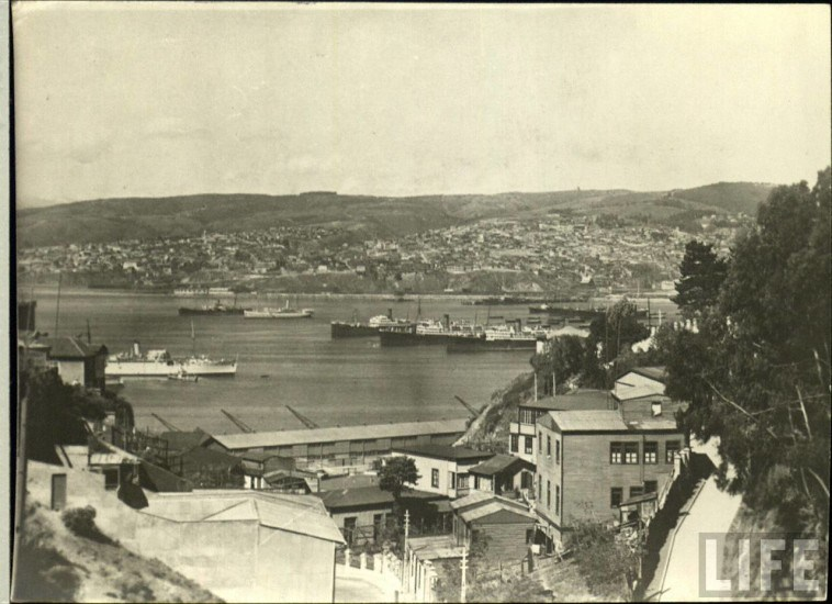 Enterreno - Fotos históricas de chile - fotos antiguas de Chile - Valparaíso, ca. 1930