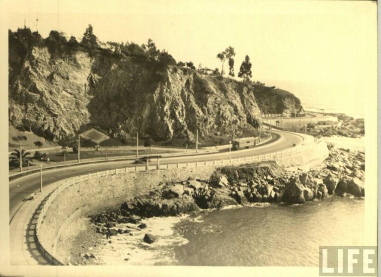 Enterreno - Fotos históricas de chile - fotos antiguas de Chile - Avenida Altamirano de Valparaíso, ca. 1930