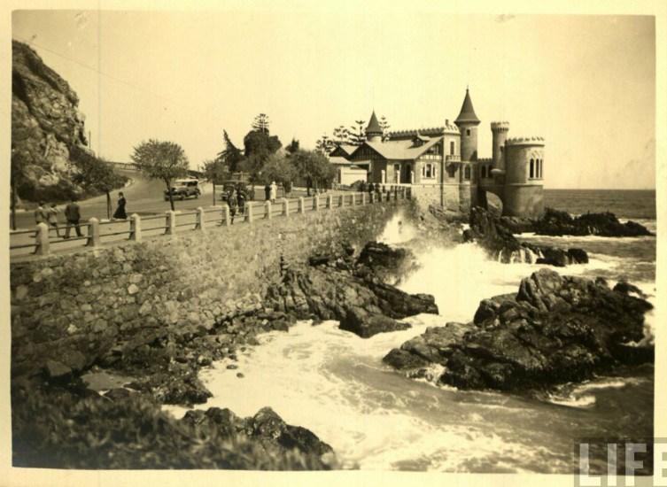 Enterreno - Fotos históricas de chile - fotos antiguas de Chile - Castillo Wulff de Viña del Mar, ca. 1930