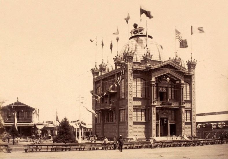 Enterreno - Fotos históricas de chile - fotos antiguas de Chile - Pabellón de Chile en la Exposición Universal de París en 1889