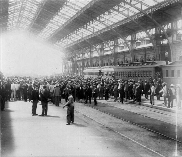 Enterreno - Fotos históricas de chile - fotos antiguas de Chile - Estación Central de Santiago en el año 1900
