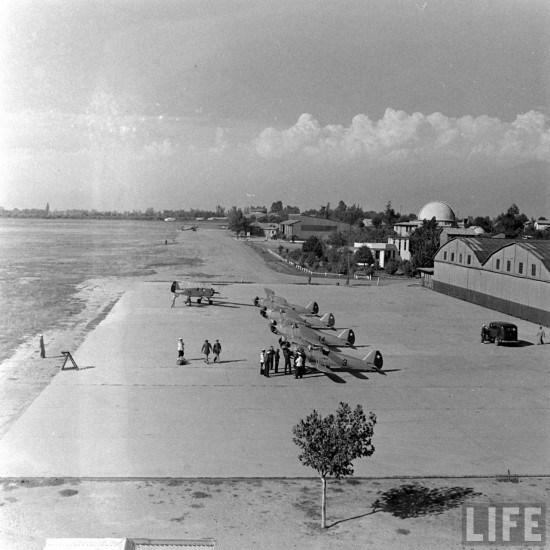 Enterreno - Fotos históricas de chile - fotos antiguas de Chile - Base Aérea El Bosque en Lo Espejo en 1941
