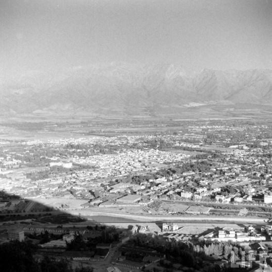 Enterreno - Fotos históricas de chile - fotos antiguas de Chile - Providencia desde el cerro San Cristóbal en 1941
