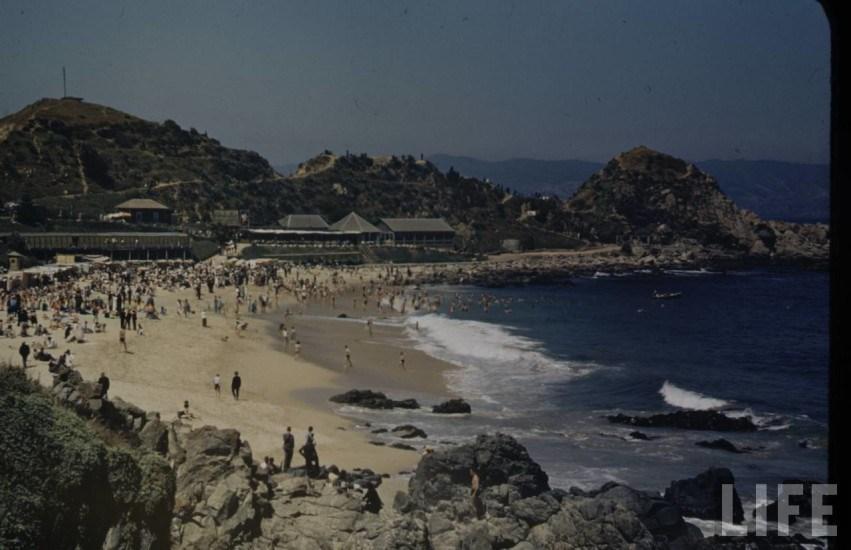 Enterreno - Fotos históricas de chile - fotos antiguas de Chile - Balneario Las Salinas en 1941