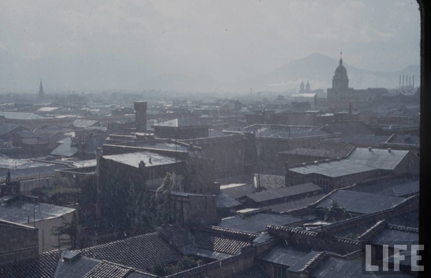 Enterreno - Fotos históricas de chile - fotos antiguas de Chile - Vista hacia Santiago poniente desde el Barrio Cívico, 1941