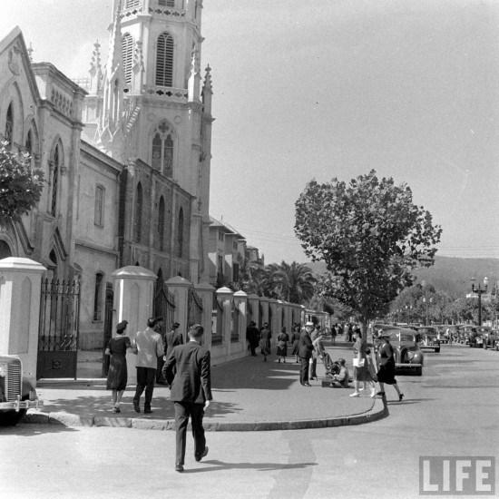 Enterreno - Fotos históricas de chile - fotos antiguas de Chile - Iglesia Carmelitas de Viña del Mar 1941