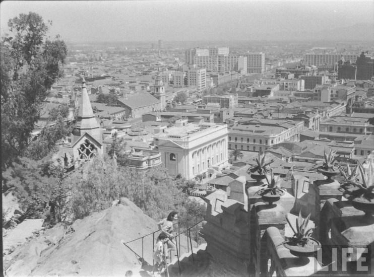 Enterreno - Fotos históricas de chile - fotos antiguas de Chile - Vista de Santiago desde el Cerro Santa Lucía, 1941
