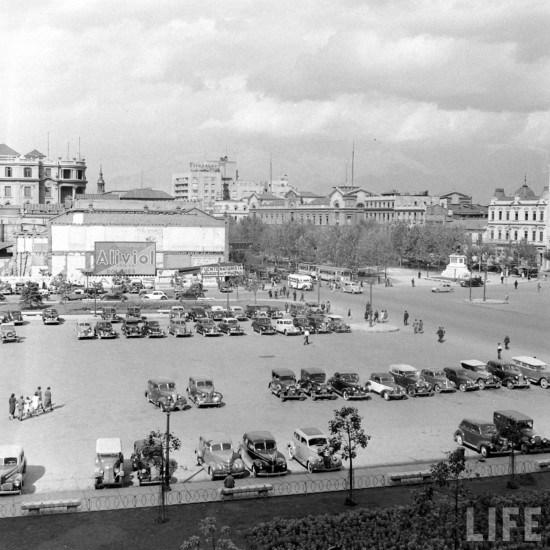 Enterreno - Fotos históricas de chile - fotos antiguas de Chile - Plaza de la Ciudadanía, 1941