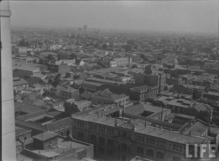 Enterreno - Fotos históricas de chile - fotos antiguas de Chile - Santiago desde el Barrio Civico 1941