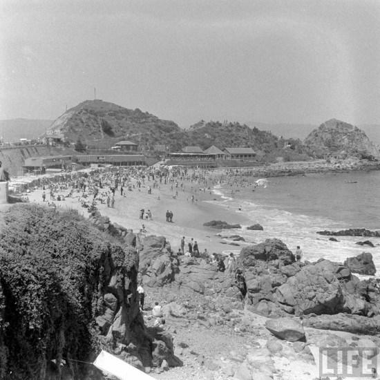 Enterreno - Fotos históricas de chile - fotos antiguas de Chile - Balneario Las Salinas 1941
