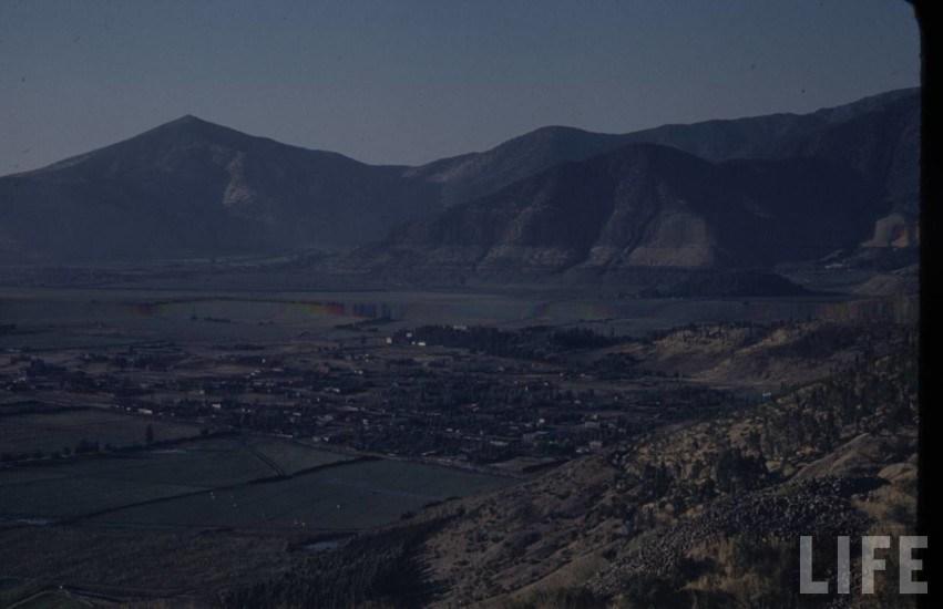 Enterreno - Fotos históricas de chile - fotos antiguas de Chile - Vista hacia Huechuraba desde San Cristobal en 1941