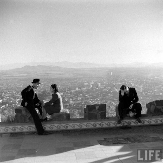 Enterreno - Fotos históricas de chile - fotos antiguas de Chile - Cerro San Cristobal 1941
