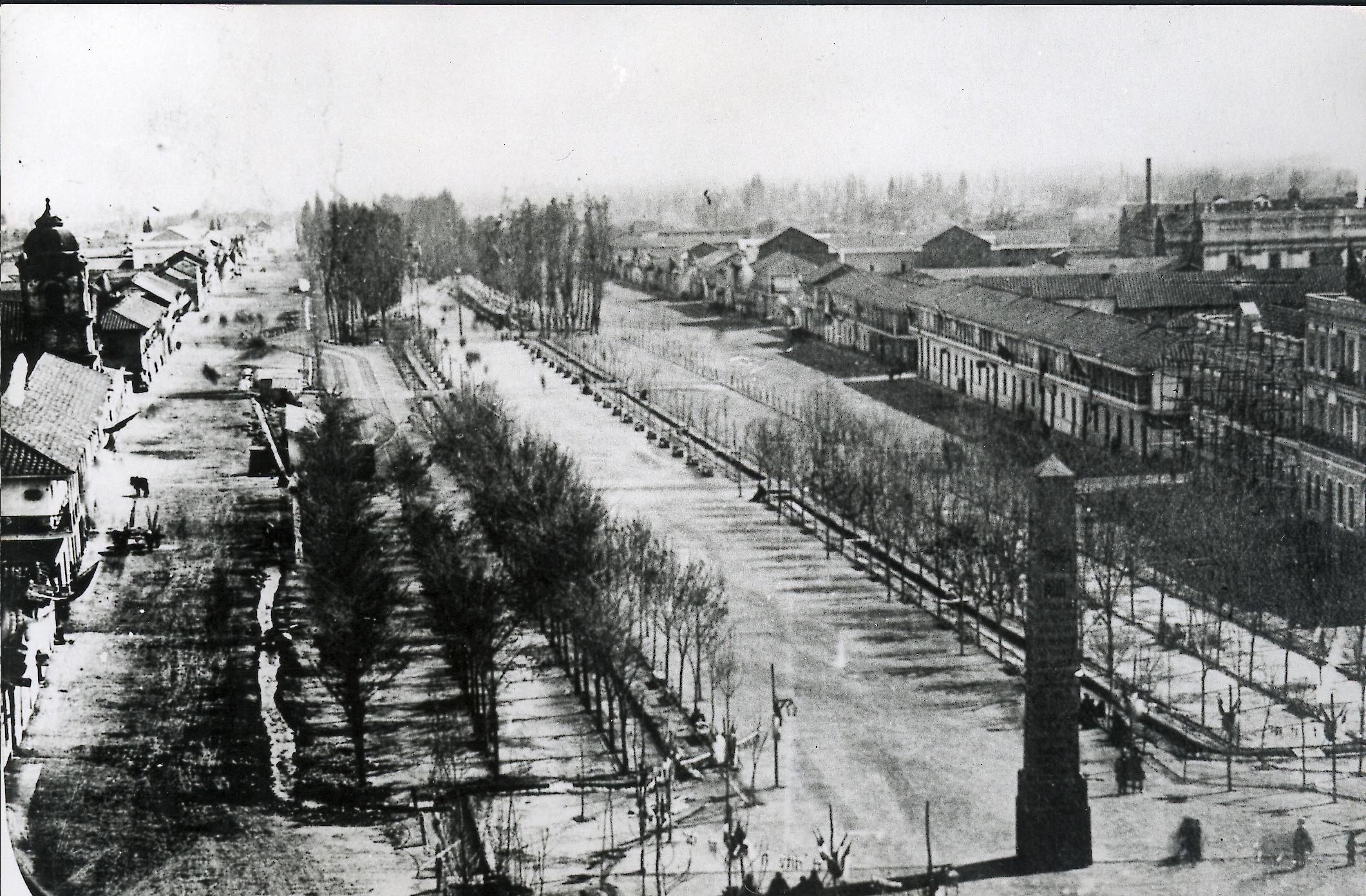 Enterreno - Fotos históricas de chile - fotos antiguas de Chile - La Alameda alrededor de el año 1860