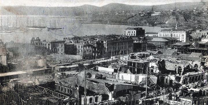 Enterreno - Fotos históricas de chile - fotos antiguas de Chile - Valparaíso después del terremoto de 1906