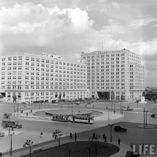 Enterreno - Fotos históricas de chile - fotos antiguas de Chile - Barrio Cívico de Santiago en el año 1941.