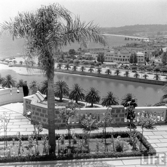 Enterreno - Fotos históricas de chile - fotos antiguas de Chile - Vista de Viña del Mar desde el Castillo Brunet en el año 1941.