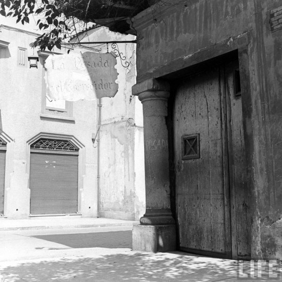 Enterreno - Fotos históricas de chile - fotos antiguas de Chile - Posada del Corregidor en el año 1941