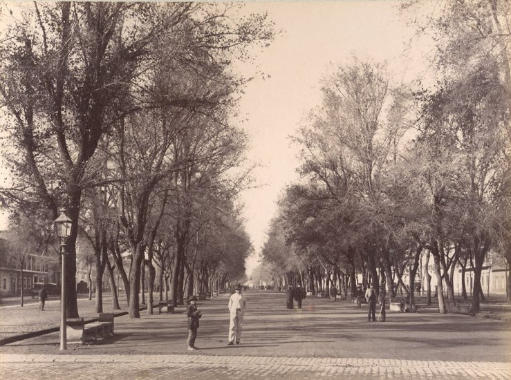Enterreno - Fotos históricas de chile - fotos antiguas de Chile - Bandejón central de la Alameda de Santiago en 1900