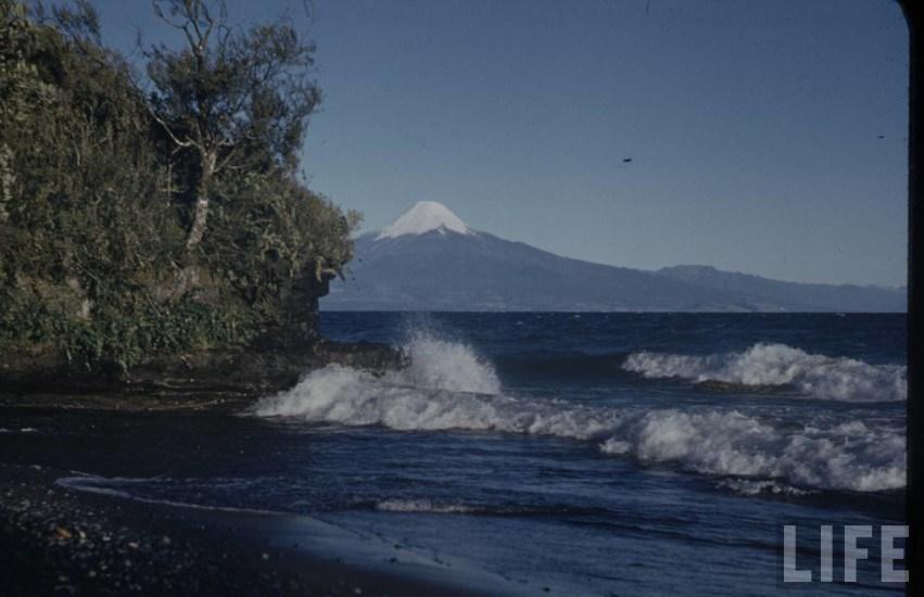 Enterreno - Fotos históricas de chile - fotos antiguas de Chile - Volcán Osorno en el año 1941.