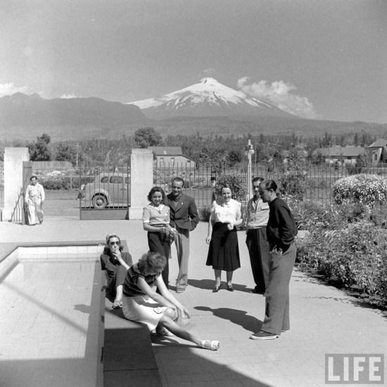 Enterreno - Fotos históricas de chile - fotos antiguas de Chile - Cercanías del Volcán Villarrica en el año 1941.