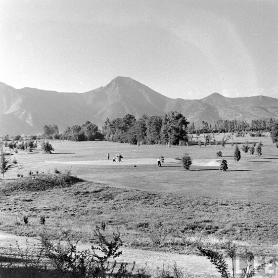 Enterreno - Fotos históricas de chile - fotos antiguas de Chile - Club de Golf Los Leones, en 1941.
