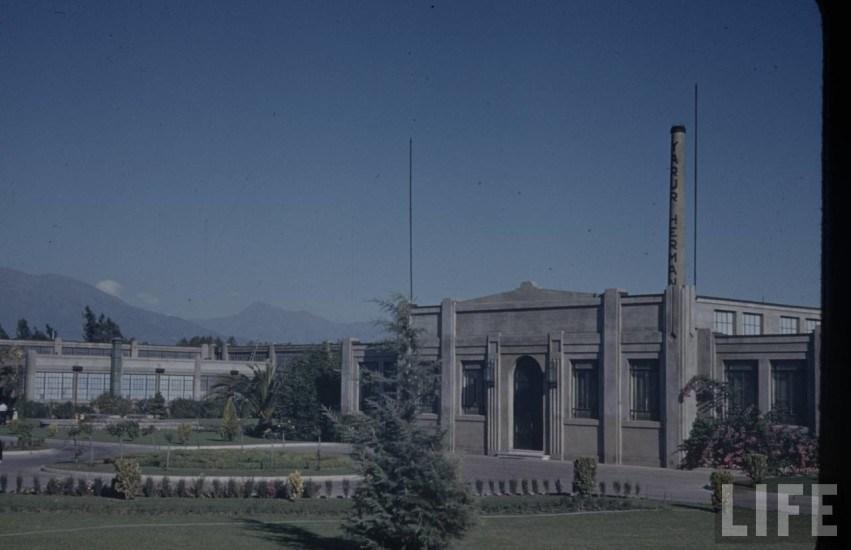 Enterreno - Fotos históricas de chile - fotos antiguas de Chile - Fábrica textil Machasa en el año 1941.