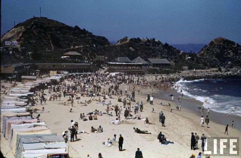 Enterreno - Fotos históricas de chile - fotos antiguas de Chile - Balneario Las Salinas en el año 1941.
