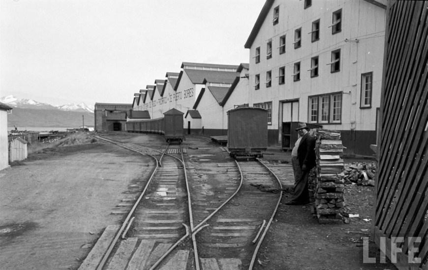 Enterreno - Fotos históricas de chile - fotos antiguas de Chile - Frigorífico de Puerto Bories en el año 1950