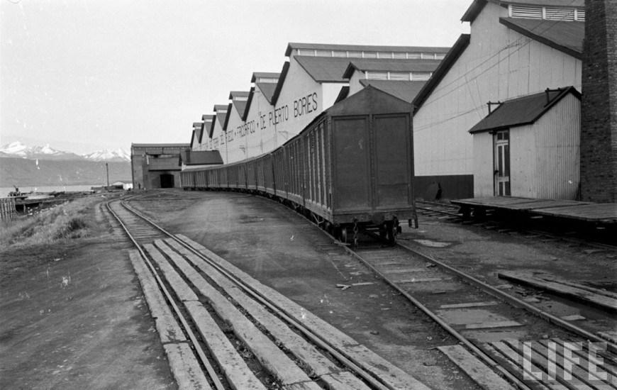 Enterreno - Fotos históricas de chile - fotos antiguas de Chile - Frigorífico Bories Puerto Natales en el año 1950