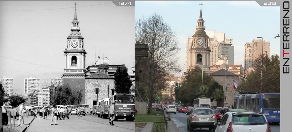 Enterreno - Fotos históricas de chile - fotos antiguas de Chile - Transformación de la Alameda de Santiago, 1974 – 2013.