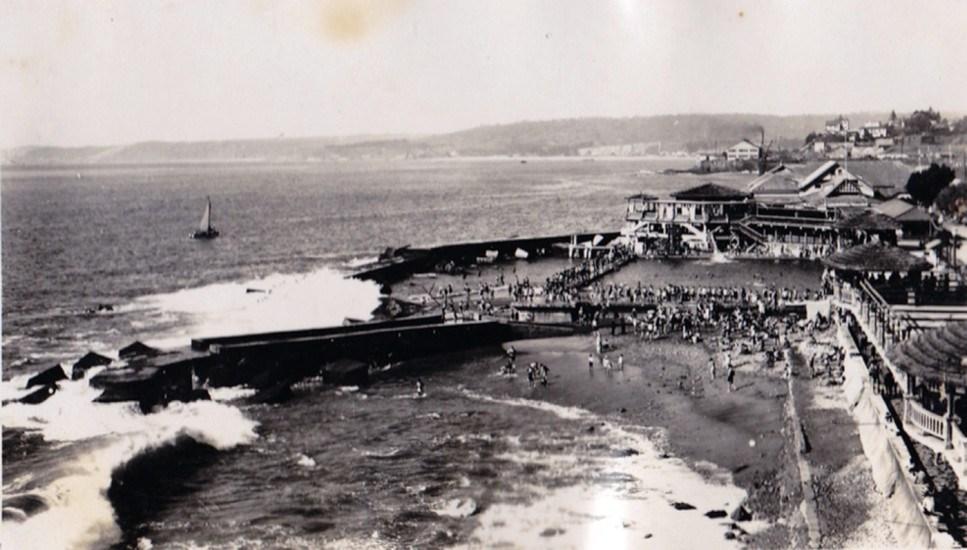 Enterreno - Fotos históricas de chile - fotos antiguas de Chile - Balneario El Recreo de Viña del Mar en 1920
