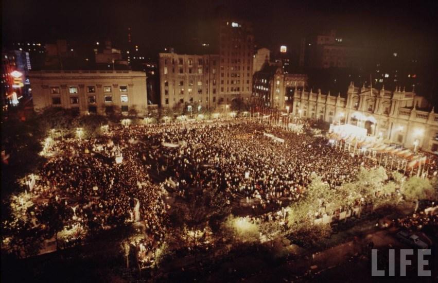 Enterreno - Fotos históricas de chile - fotos antiguas de Chile - Plaza de la Constitución en 1971.