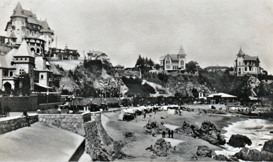 Enterreno - Fotos históricas de chile - fotos antiguas de Chile - Casonas de Viña del Mar, años 30s