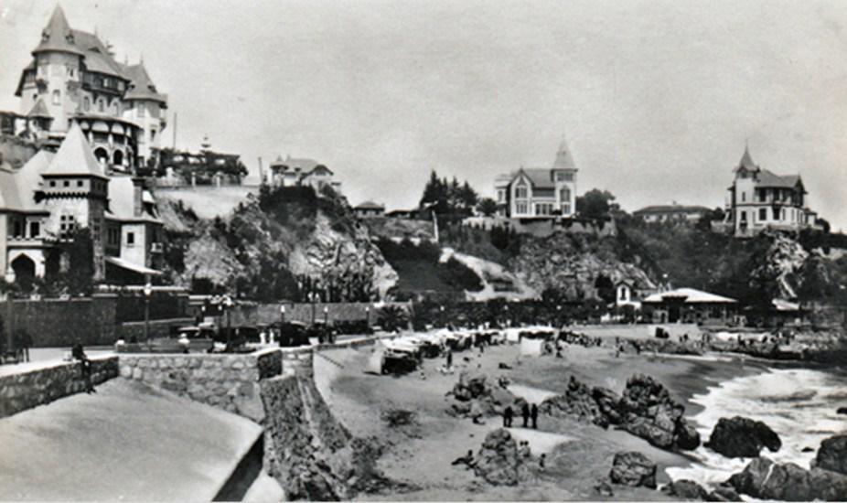 Enterreno - Fotos históricas de chile - fotos antiguas de Chile - Casonas de Viña del Mar, años 30s