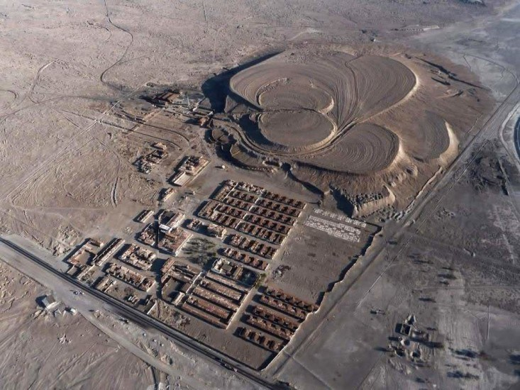 Enterreno - Fotos históricas de chile - fotos antiguas de Chile - Humberstone desde el aire.