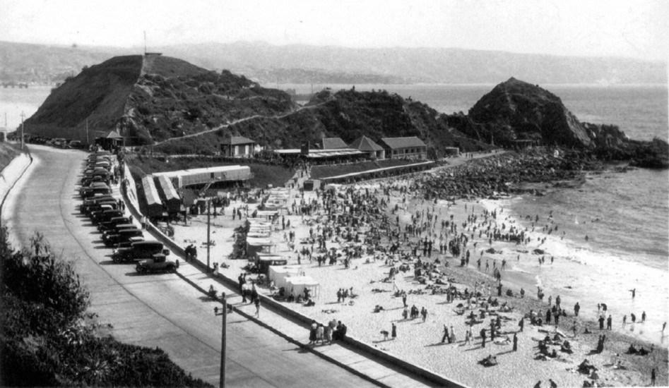 Enterreno - Fotos históricas de chile - fotos antiguas de Chile - Balneario Las Salinas de Viña del Mar alrededor de 1930.