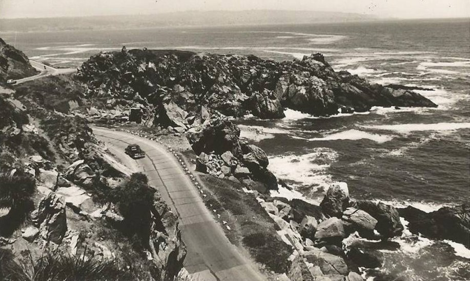 Enterreno - Fotos históricas de chile - fotos antiguas de Chile - Camino costero a Concón en 1957