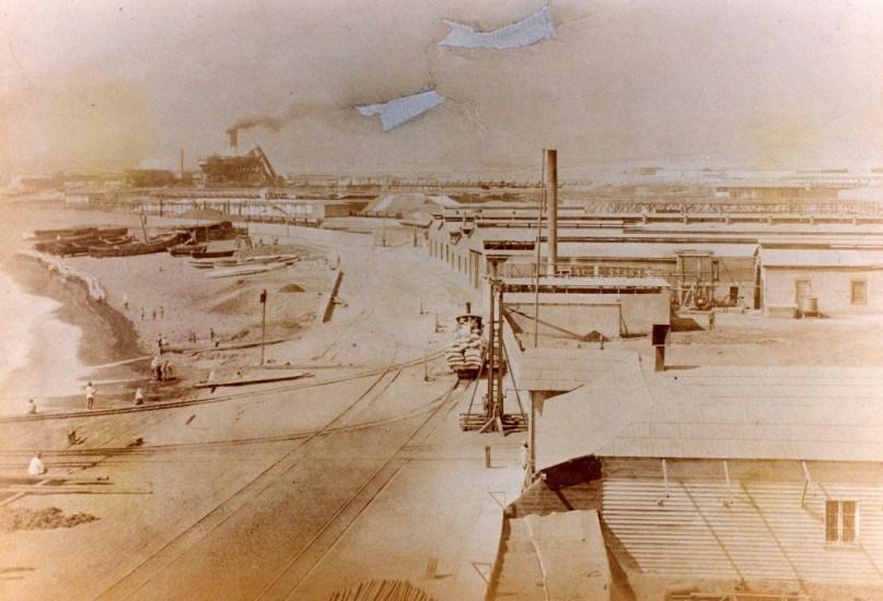 Enterreno - Fotos históricas de chile - fotos antiguas de Chile - Compañía del Salitre. Antofagasta, 1879