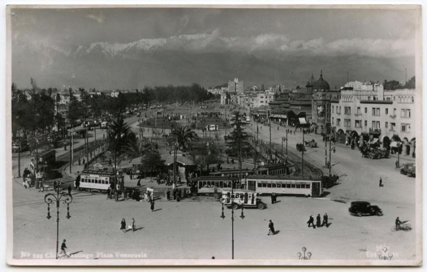 Enterreno - Fotos históricas de chile - fotos antiguas de Chile - Vista desde Estación Mapocho hacia el Oriente en los años '30s