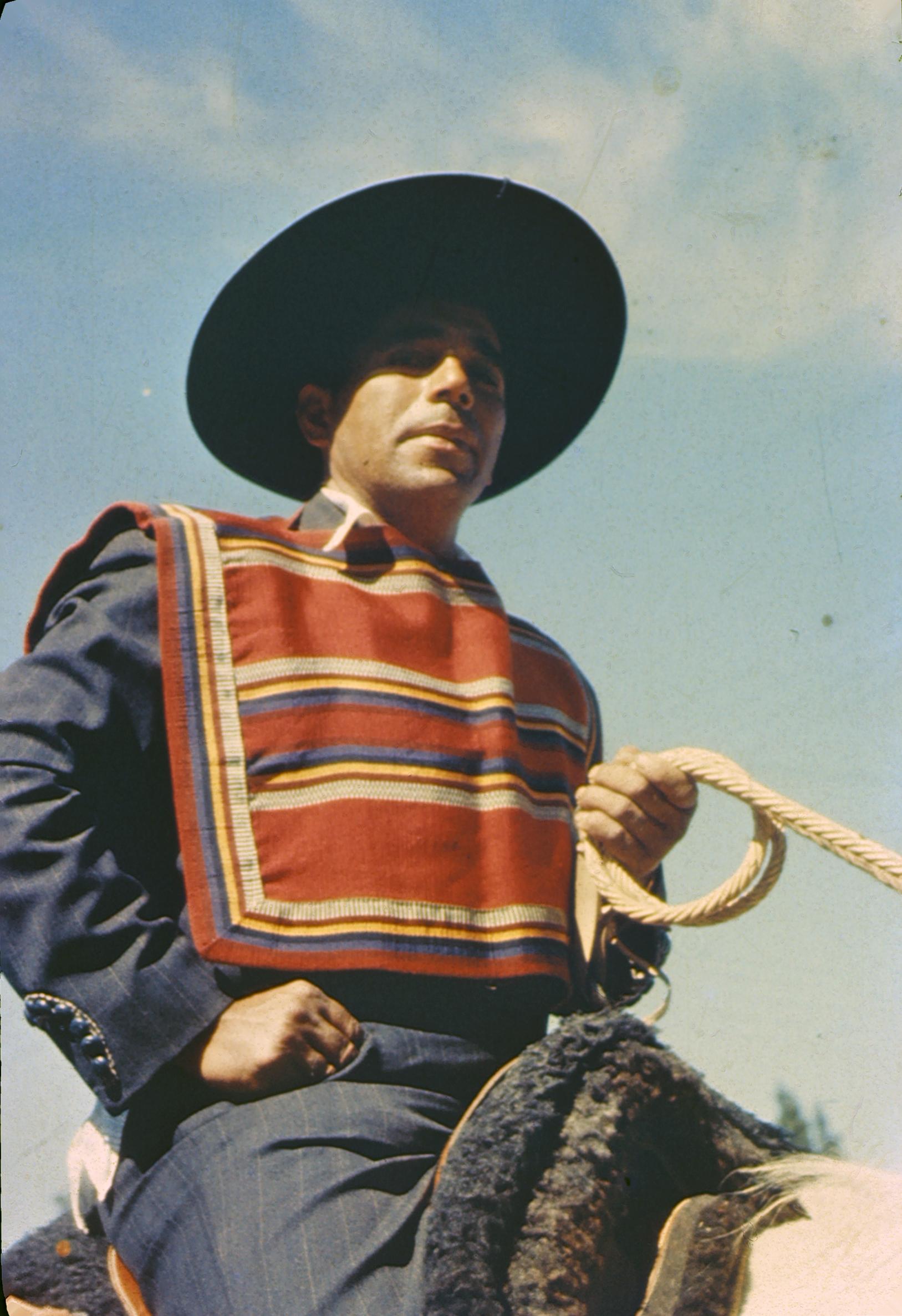 Enterreno - Fotos históricas de chile - fotos antiguas de Chile - Huaso chileno, 1960s
