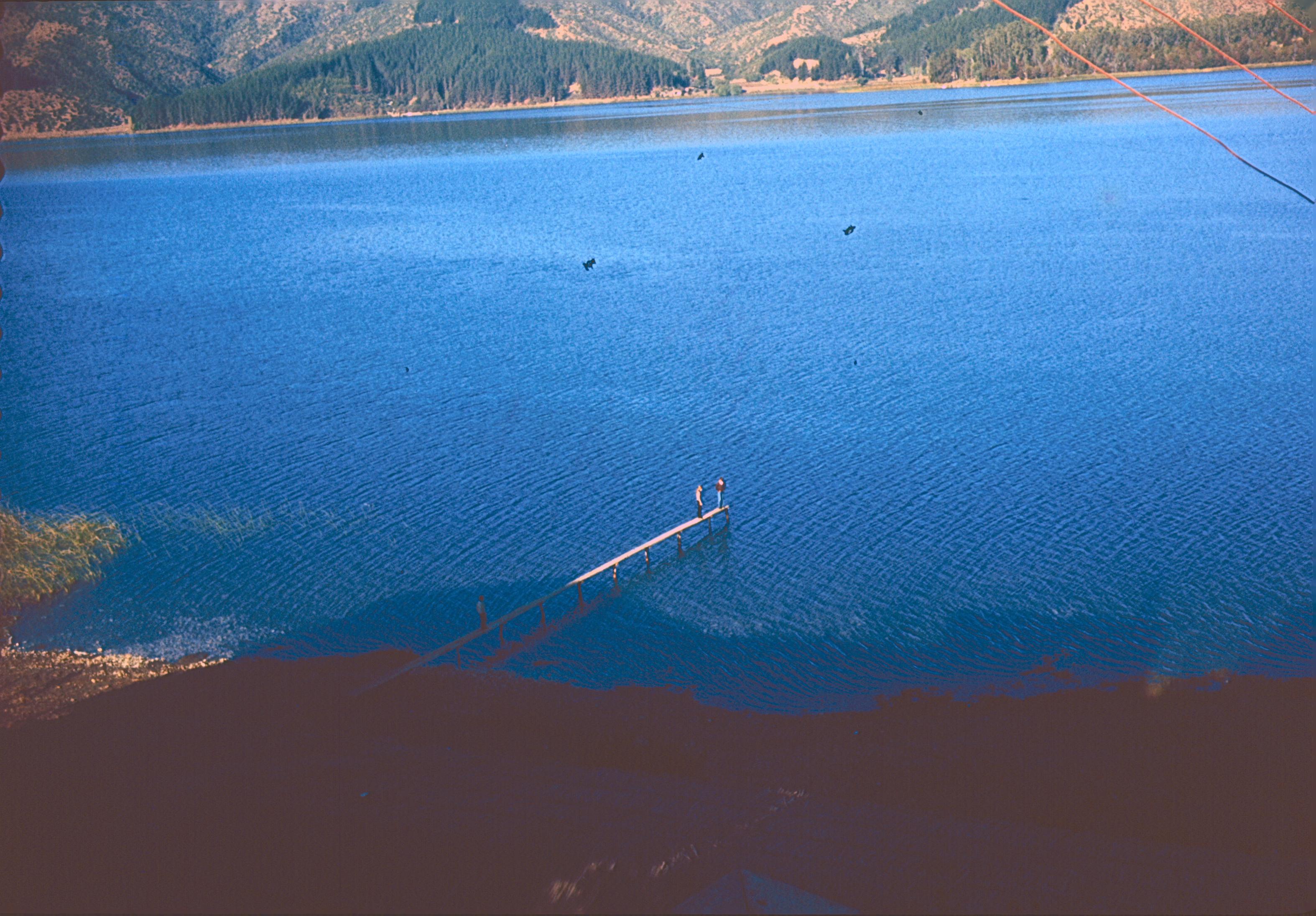 Enterreno - Fotos históricas de chile - fotos antiguas de Chile - Lago Peñuelas en 1964